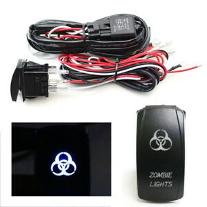 2 Output Relay Wiring Harness W Zombie Lights Led Light Switch For Fog Lamp
