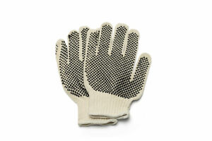Black Pvc Double Dot Work Gloves 10 Dozen For Men s 120 Pairs