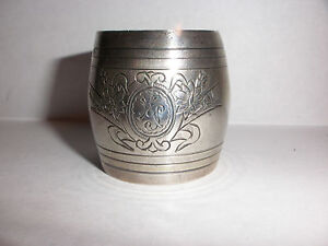 Antique Russian 87 Silver Floral Decorated Engraved Napkin Ring