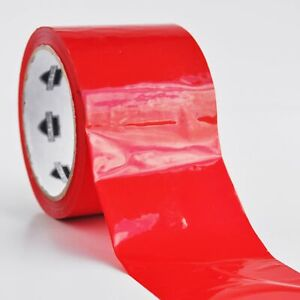 12 Rolls 2 Red Tape 110 Yds X 2 Mil Packing Tape