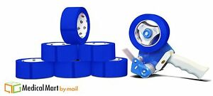 2 X 110 Yds Blue Color Packing Tape 2 Mil 12 Rolls 1 Free 2 Gun Dispenser