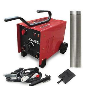 Bx1 250c1 Arc Welder 110 220v Ac Welding Machine 250 Amp Mask Accessories Red