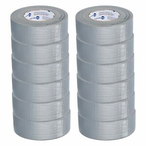 12 Rolls Set Silver Duct Tape 2 X 60 Yds 9 Mil Packing Tape