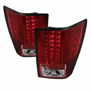 Spyder Auto 5070203 Led Tail Lights Red Fits 07 10 Clear Jeep Grand Cherokee