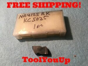 1pc New Kennametal Nr4125 Rk Kc5025 Top Notch Grooving Insert Tool Cnc Tooling