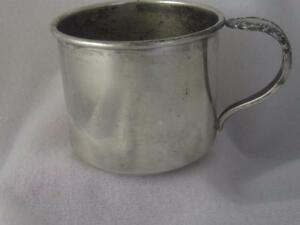 Rogers Sterling Silver Baby Child Christening Cup Bridal Veil Spoon Handle
