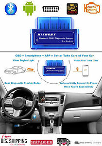Obd2 Bluetooth Scanner Automotive Diagnostic Scan Tool Code Reader Obdii Android