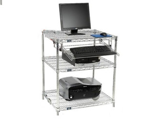 Nexel 3 shelf Computer Workstation 24 w X 30 l X 34 h