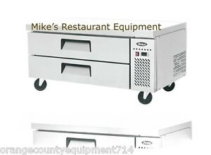 New 52 2 Drawer Refrigerated Chef Base Cooler 4708 Griddle Stand Atosa Mgf8451