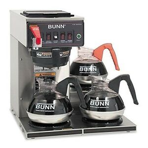 Bunn 12950 0212 Cwtf15 3 Automatic Commercial Coffee Brewer With 3 Lower Warmers
