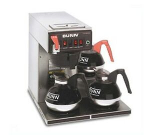 Bunn 12 Cup Automatic Coffee Brewer With 3 Warmers cwtf15 3 0212