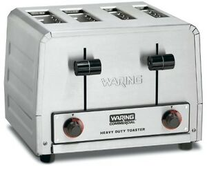 Waring Commercial Wct810 Heavy Duty Stainless Steel Bread And Bagel Combination