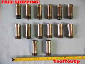 14 Pcs Lot Of 5c Collet Sizes Include 23 32 13 16 29 32 13 32 And Many More