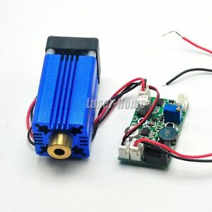 Focusable 405nm 150mw 12v Violet blue Laser Dot Diode Module Ttl Driver Fan
