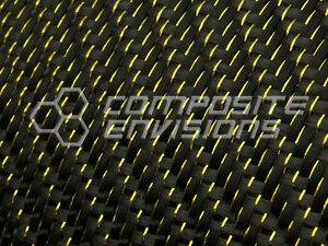 Gold Reflections Carbon Fiber Fabric 2x2 Twill 50 3k 5 9oz
