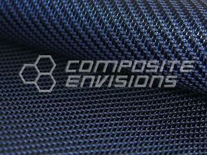 Blue Reflections Carbon Fiber made With Kevlar blue Fabric 2x2 Twill 3k 5 7oz