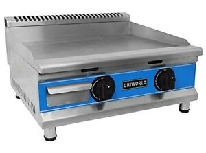 Uniworld 24 Single Thermostat Natural Gas Griddle With f And c Adjustable Dua