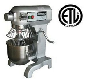 Uniworld 10qt Commercial Stand Mixer Etl Approved Model Upm 10e