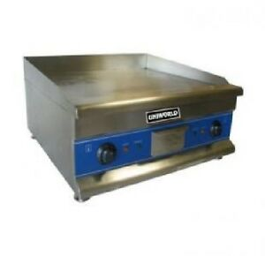 New Uniworld 24 inch Electric Griddle Commercial Iron Flat Top Thermostat 24