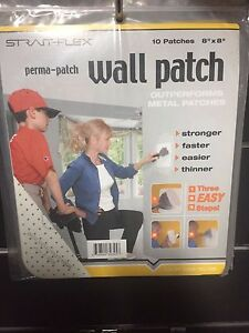 Strait Flex Drywall Patch 8 X 8 1 Pack Of 10 Patches