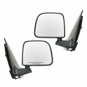 Manual Black Side View Mirrors Lh Rh Pair Set Of 2 For 93 97 Ford Ranger