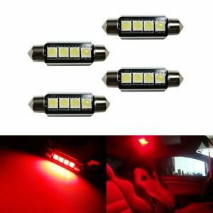 4 Red 4 smd Error Free 578 211 2 6411 Led Bulb Map Dome Trunk Area Cargo Light