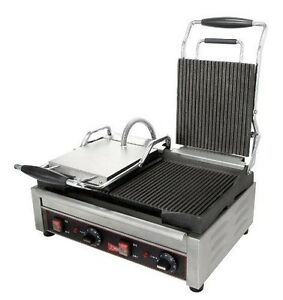 Cecilware Stainless Steel Double Grooved Surface Sandwich panini Grill 22 75 X