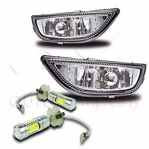 2001 2002 Corolla Replacement Fog Lights W High Power Cob Led Bulbs Clear