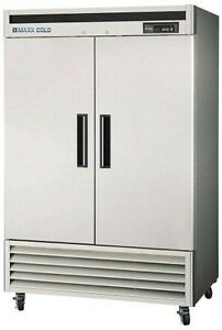 Maxx Cold Mcf 49fd 49 cu ft Reach in Two Door Commercial Freezer Stainless