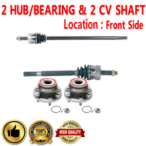 2 Front Cv Axle Shafts 2 Wheel Hub Bearing Assembly For Grand Cherokee