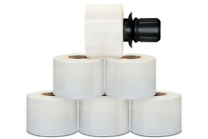 Extended Core Stretch Wrap 3 X 700 Black Spinner Handle 120 Gauge 648 Rolls