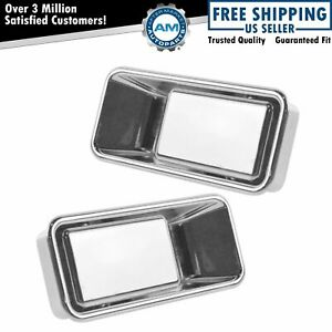 Exterior Outside 1 2 Half Door Chrome Lh Driver Rh Passenger Pair For Wrangler
