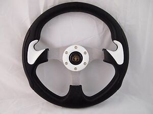1984 Club Car Ds White Steering Wheel Golf Cart With Chrome Adapter