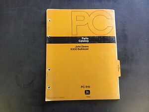 John Deere 6300 Bulldozer Parts Catalog Pc 915