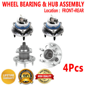 4x Front Rear Wheel Hub And Bearing Assembly For Oldsmobile Alero 1999 2004