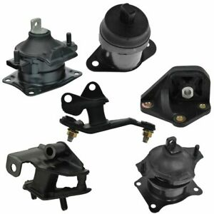 Motor Engine Transmission Tranny Mount Set Of 6 Kit For Honda Accord 2 4l At