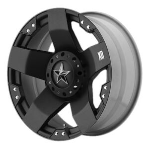 20 Inch Black Wheels rims Chevy Dodge Ram 2500 8 Lug Truck Xd775 Series Rockstar