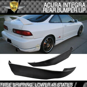 Abs Plastic Rear Apron Bumper Lip Fits 94 97 Acura Integra