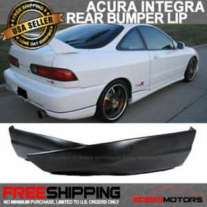 Fits 94 97 Acura Integra Rear Bumper Lip Splitters Valance Spats 2pc Abs
