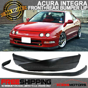 Fit 94 97 Acura Integra Sir Urethane Front Bumper Lip T R Abs Rear Lip