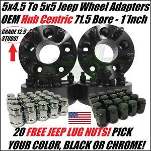 4 Wheel Adapters 5x4 5 To 5x5 1 Inch Adapt Jeep Jk Wheels On Tj Yj Hubcentric