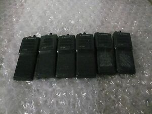 Lot Of 6 Motorola Ht1000 Portable Uhf Wideband Radio h01sdc9aa3bn As Is Read