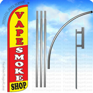 Vape Smoke Shop Windless Swooper Flag 15 Kit Feather Banner Sign Rz