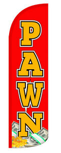 Pawn Windless Swooper Flag Feather Banner Sign 3x11 5 Rq