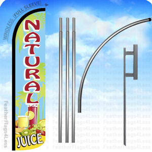 Natural Juice Windless Swooper Flag 15 Kit Feather Banner Sign Bz