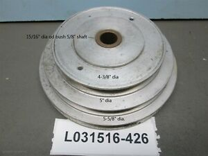 Sheave V belt 3 Step Shaft Pulley 5 8 Spindle Clutch Pads Not Included