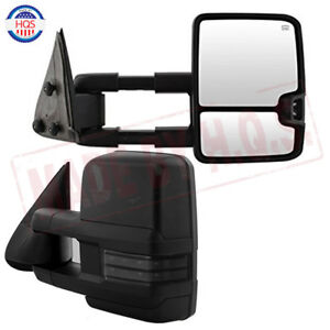 Pair For 03 06 Chevy Silverado Sierra Tahoe Power Heat Led Signal Towing Mirrors
