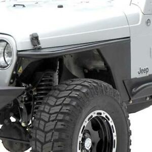 Smittybilt Xrc Armor Tube Fenders 76 86 Jeep Cj7 76866 Black