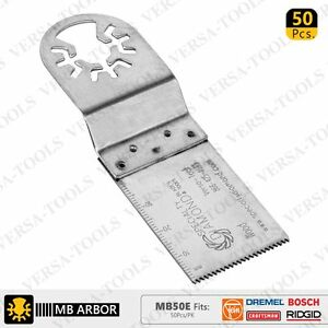 Versa Tool Mb50e 30mm Stainless Steel Multi tool Saw Blades 50 pk Fits Dremel