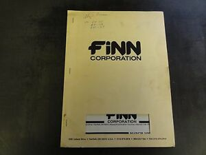 Finn Corporation Models 60a And 80a Groundhog Parts Manual 1996